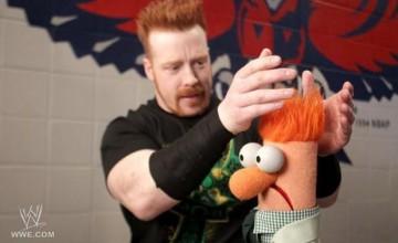 Sheamus meet Muppet Beaker, © WWE