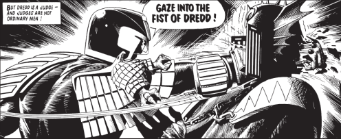 Judge Dredd dispenses justice