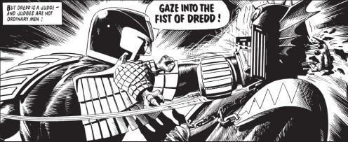 Judge Dredd dispenses justice
