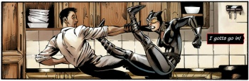 Catwoman fights Alvarez
