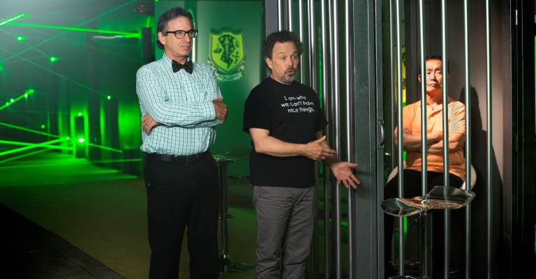 Robert Carradine, Curtis Armstrong, George Takei