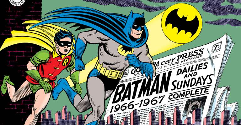 Batman 1966-67 Comic Strips Cover