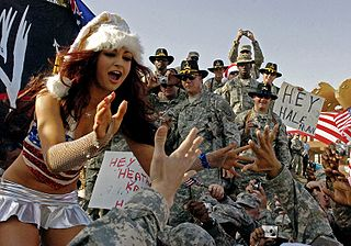 Maria Kanellis w/Troops
