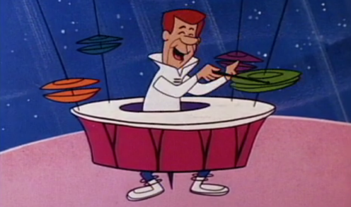 George Jetson on the Drums