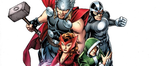 Thor, Havoc, Scarlet Witch, Rogue