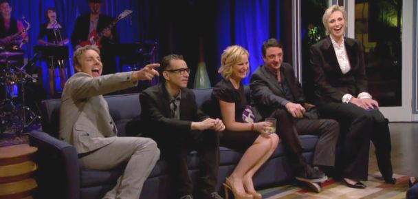 Dax Shepard, Fred Armisen, Amy Poehler, contestant, Jane Lynch