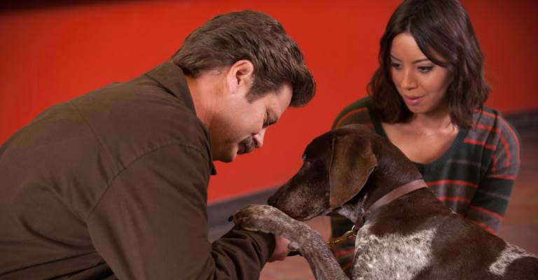 parks-recreation-anniversaries-ron-april-dog-web