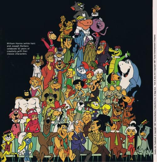 The Hanna-Barbera roster circa 1987
