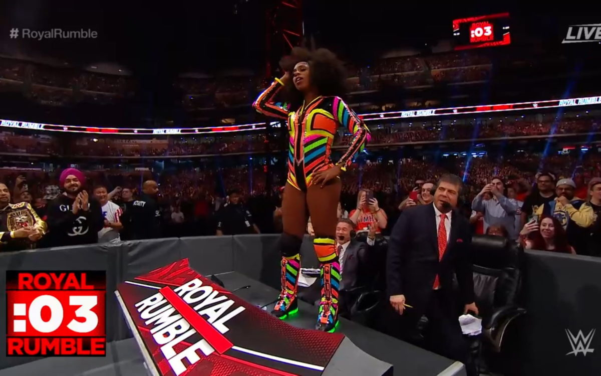 Naomi in the 2020 Royal Rumble